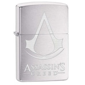 Zippo Assassin's Creed Crest and Name Brushed Chrome Finish Windproof Lighter
