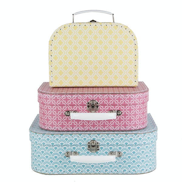 Sass & Belle Moroccan (Set of 3) Geometrics Suitcases