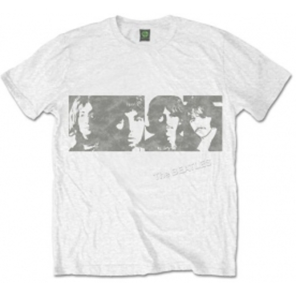 The Beatles White Album Faces Men's White T Shirt: XXL