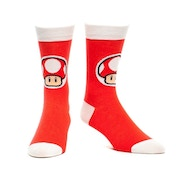 Nintendo Super Mario Bros. Adult Male Red Mushroom Crew Socks 39/42