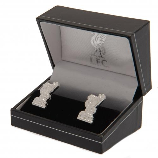 Liverpool FC Liverbird Silver Plated Formed Cufflinks