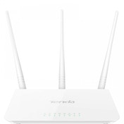 Tenda F3 Fast Ethernet White Wireless Router UK Plug