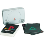 Playstation Playing Cards and Console Tin