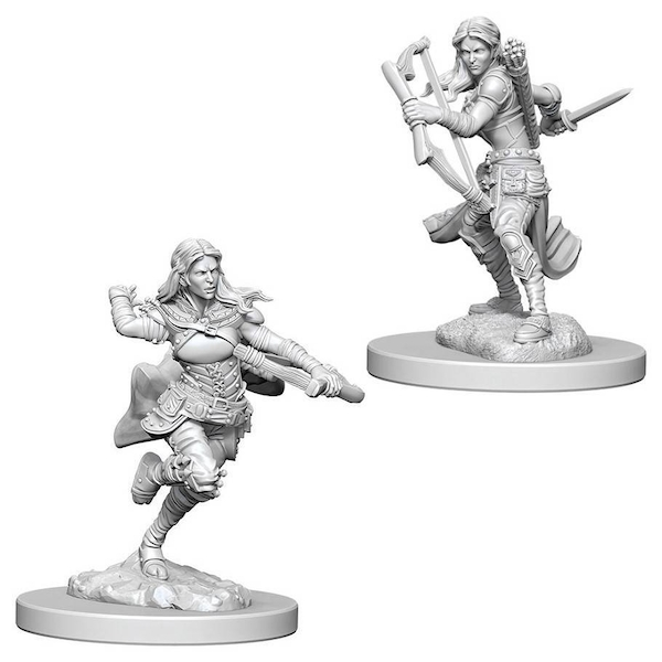 Dungeons & Dragons Nolzur's Marvelous Unpainted Miniatures - Air Genasi Female Rogue