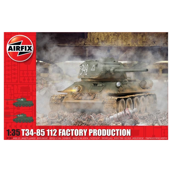 T34-85 112 Factory Production 1:35 Tank Air Fix Model Kit