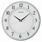 Seiko QXA658S Wall Clock with Arabic Dial Silver with White Face