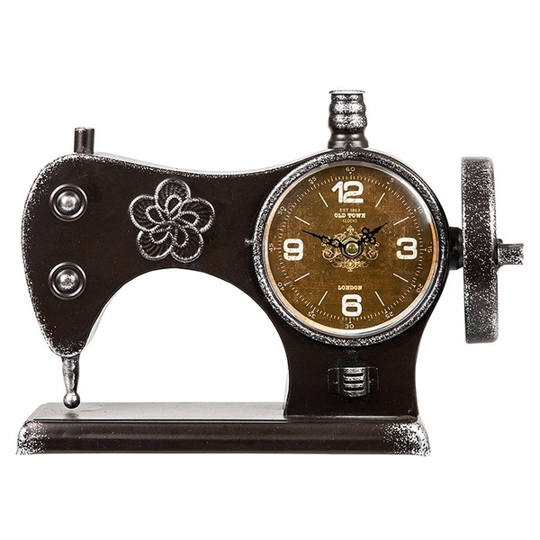 Past Times Sewing Machine Clock