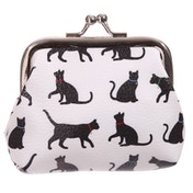 Tic Tac Floral Cat Silhouette Purse
