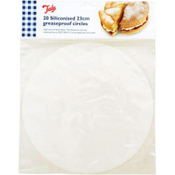 Tala Siliconised 23cm Cake Circles, Greaseproof Liners (Set of 20)