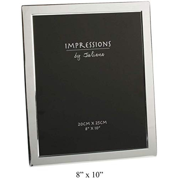 """8"""" x 10"""" - Impressions Silver Plated Photo Frame Flat Edge"""