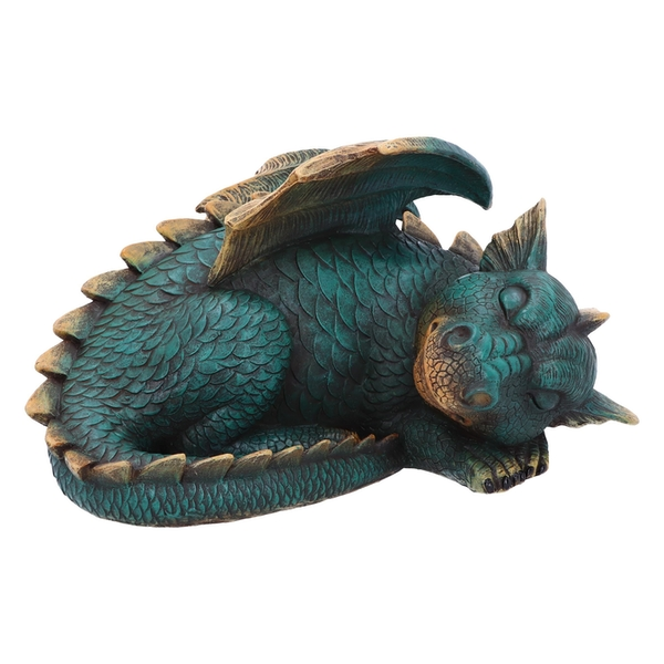 Forty Winks Sleeping Green Dragon Ornament