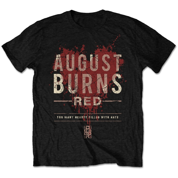 August Burns Red - Hearts Filled Unisex Large T-Shirt - Black
