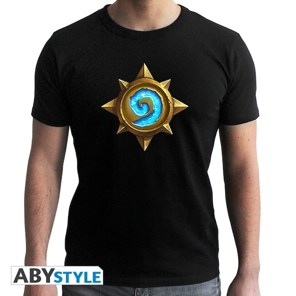 "Hearthstone - ""Rosace"" Mens Medium SS T-Shirt - Black - New Fit"