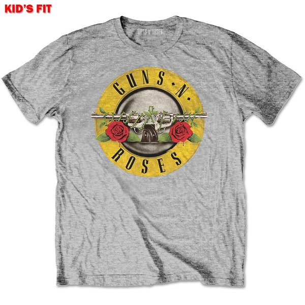 Guns N' Roses - Classic Logo Kids 9 - 10 Years T-Shirt - Grey