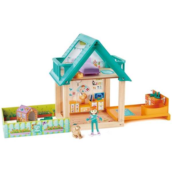 Hape Furry Friend Vet Playset
