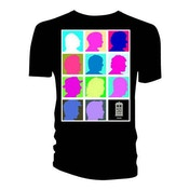 Doctor Who - Silhouette Grid Multi Black Men's X-Large T-Shirt - Black