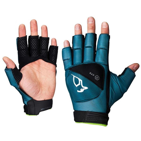 Kookaburra Xenon Plus 3/4 Finger Hand Guard Turquoise/Black Large LH