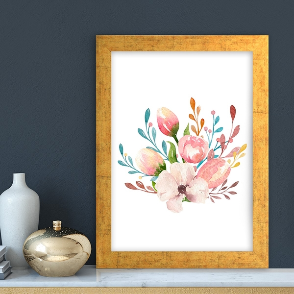 AC10355637855 Multicolor Decorative Framed MDF Painting