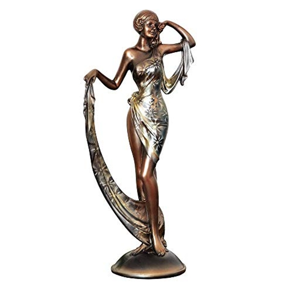 Silhouette Collection Lady Figurine Bronze & Silver 32cm