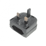 2 Pin Euro to UK Mains Power Converter Plug