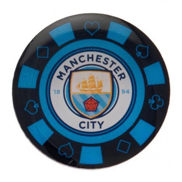 Manchester City FC Poker Chip Badge