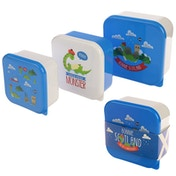 Nessie Design Set of 3 Plastic Lunch Boxes