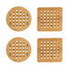 Set of 4 Bamboo Trivets with Storage Rack | M&W - Image 6