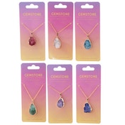 Gemstone & Mineral (Pack Of 6) Pendant Necklace