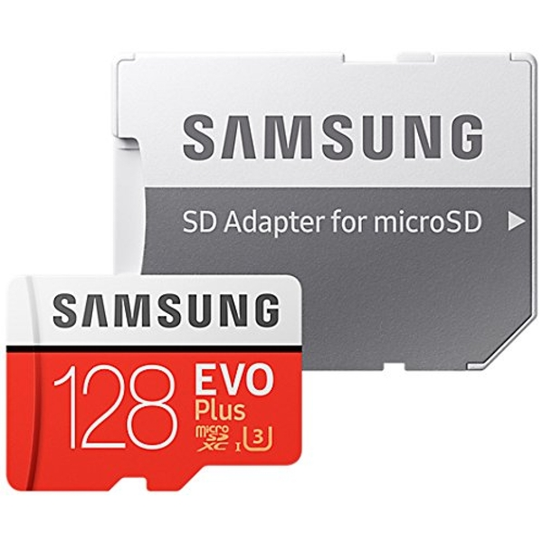 Samsung MB-MC128GA/EU 128GB EVO Plus Micro SD UHS-I Card with Adapter
