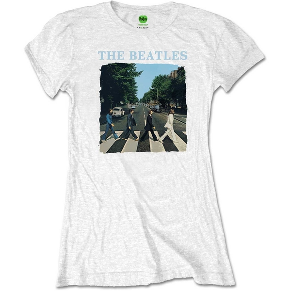 The Beatles - Abbey Road & Logo Women's Large T-Shirt - White