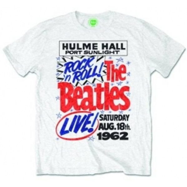 The Beatles Rock n Roll Mens White T Shirt: X Large