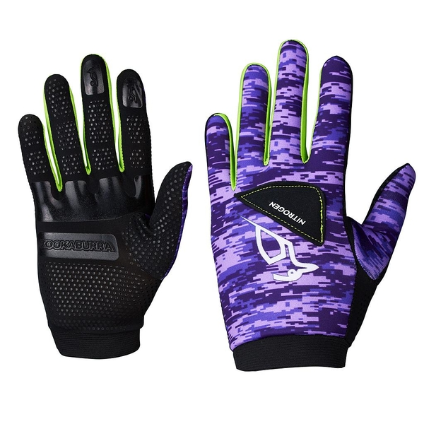 Kookaburra Nitrogen Full Finger Gloves Mauve/Black XSmall