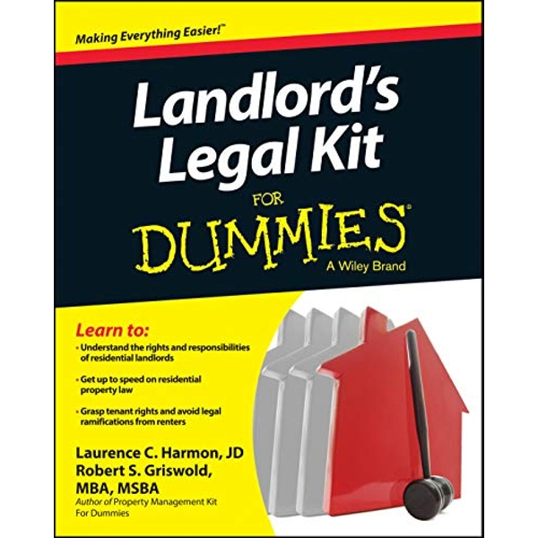 Landlord's Legal Kit For Dummies by Robert S. Griswold, Laurence Harmon (Paperback, 2014)