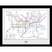 """Transport For London Underground Map 12"""" x 16"""" Framed Collector Print - Image 2"""