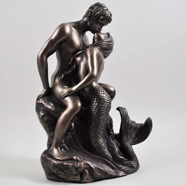 Seduction by Love Is Blue Cold Cast Bronze Sculpture