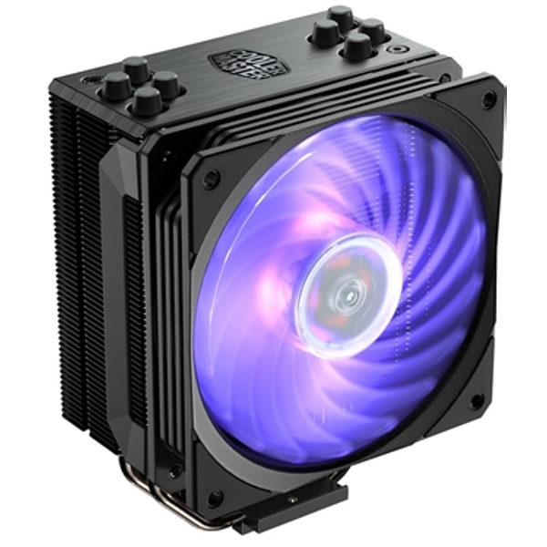 Cooler Master Hyper 212 RGB Black Edition Universal Socket 120mm PWM 2000RPM RGB LED Fan CPU Cooler with Wired RGB Controller