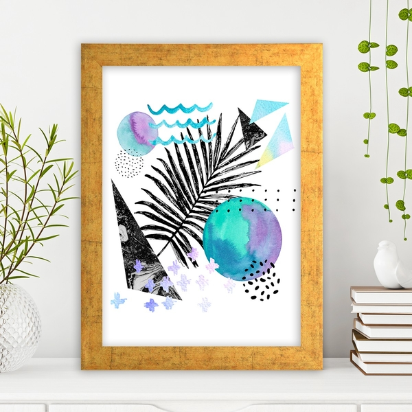 AC1055166386 Multicolor Decorative Framed MDF Painting