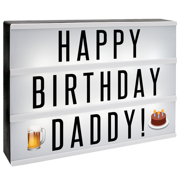 A4 Lightbox with 205 Letters & Emoji | M&W - Image 9