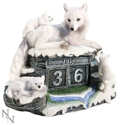 Mother's Watch Wolf Statue Calendar