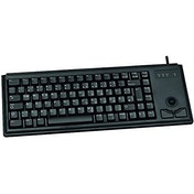 CHERRY Compact G84-4400 PS/2 Keyboard with Integrated Trackball (Black) - US with EURO Symbol