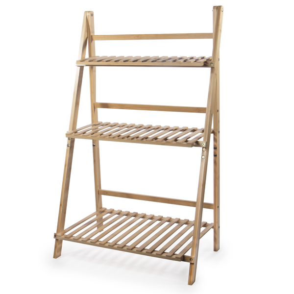 Folding Bamboo Plant Stand   M&W