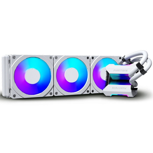 Phanteks Glacier One 360MPH All In One CPU Water Cooler HALOS D-RGB White - 360mm