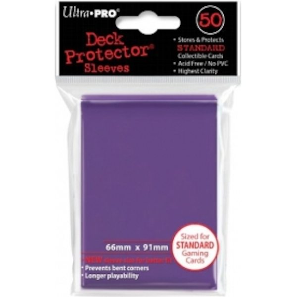 Ultra Pro 50 Standard Purple 12 Packs of 50 Sleeves