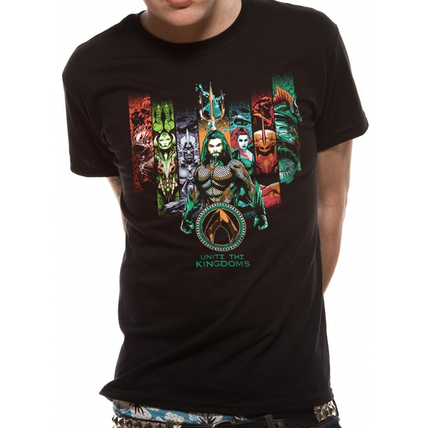 Aquaman Movie - Unite The Kingdoms Men's Medium T-Shirt - Black