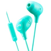 JVC HAFX38MG Marshmallow Custom Fit In-Ear Headphones with Remote & Mic Green