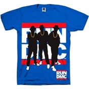 Run DMC Silhouette Blue Mens T Shirt: Small