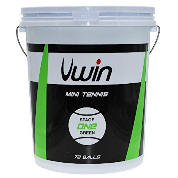 Uwin Stage 1 Green Tennis Balls – Bucket of 72 balls