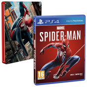 Marvel's Spider-Man + Free Steelbook PS4 Game