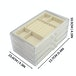 3 Drawer Acrylic Jewellery Box | Pukkr Cream - Image 4