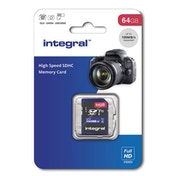 Integral INSDX64G10 Secure Digital (SD) Card 64GB - Class 10
